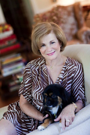 Suellen Gregory with her dog Prunie